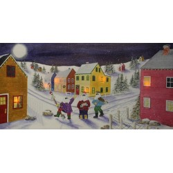 MummerTown Flickering Light-up Canvas