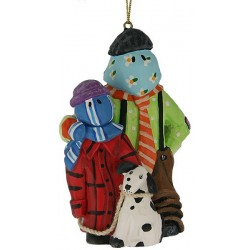 Kids & Dog From Down The Beach Christmas Ornament