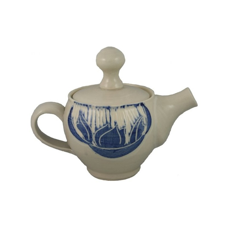 Blue Accented Teapot