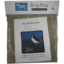 Puffin Rug Hooking Pattern & Yarn