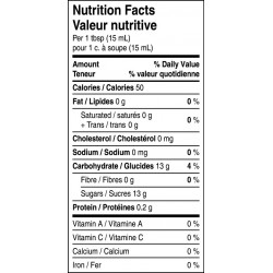 Bakeapple jam nutritional facts table.