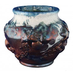 Large Raku Vase
