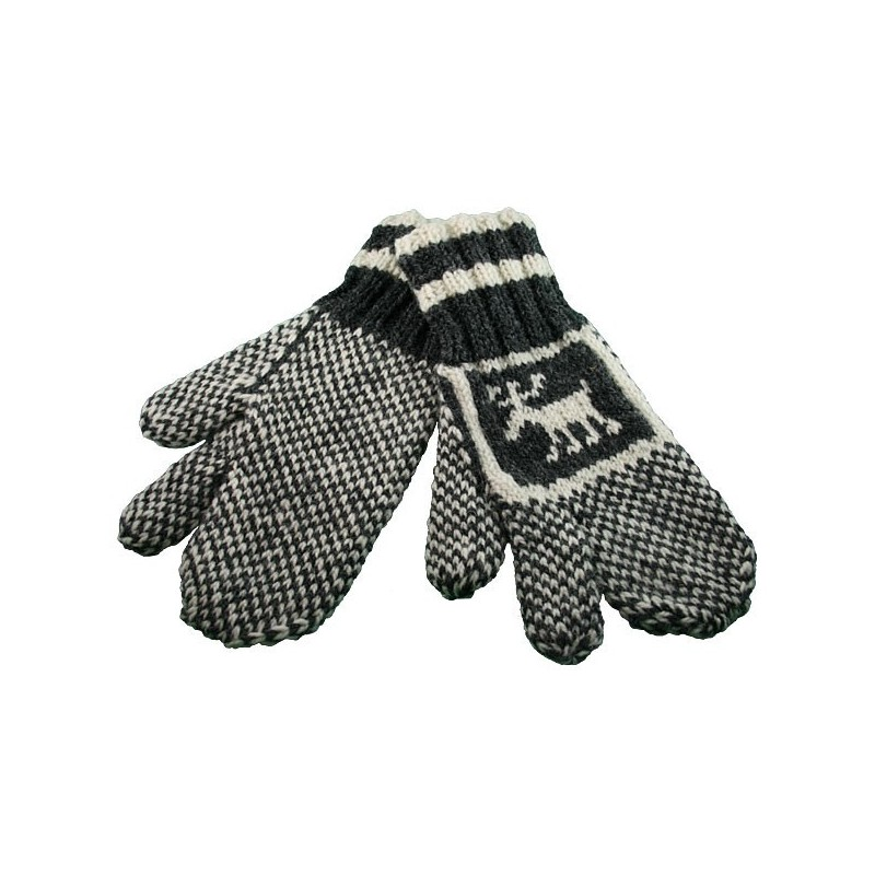 Trigger Mitts With Moose Pattern