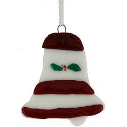 Glass Bell Christmas Ornament