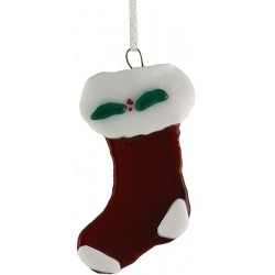 Glass Stocking Christmas Ornament