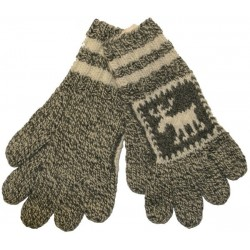Knitted Gloves With Moose...