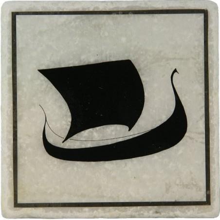 Viking Ship Marble Coaster