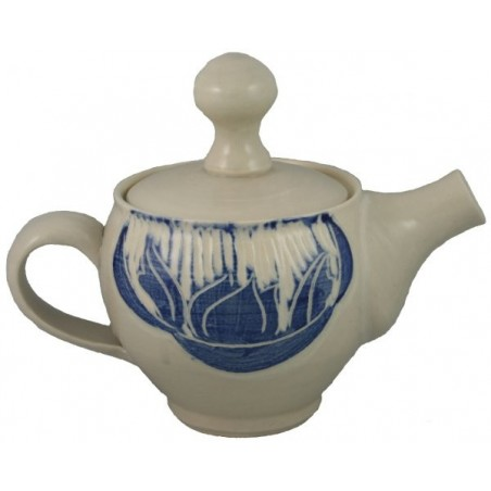 Teapot with Blue Accents