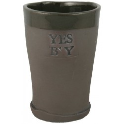 Yes B'y Beer Glass