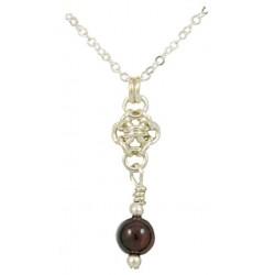 Partridgeberry Pendant Necklace