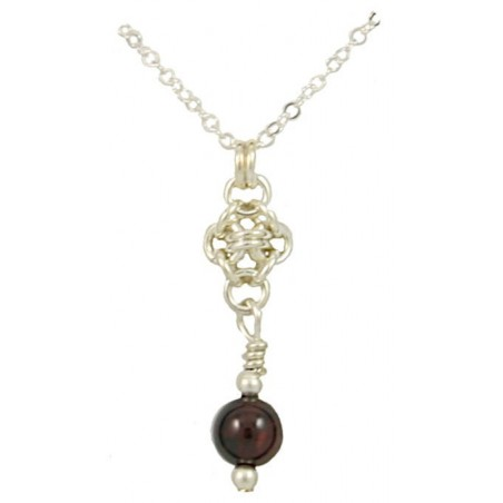 Partridgeberry Pendant Necklace