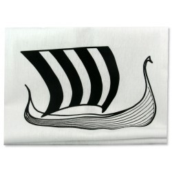 Viking Ship Tea Towel