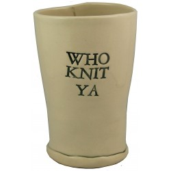 Who Knit Ya Pint Glass